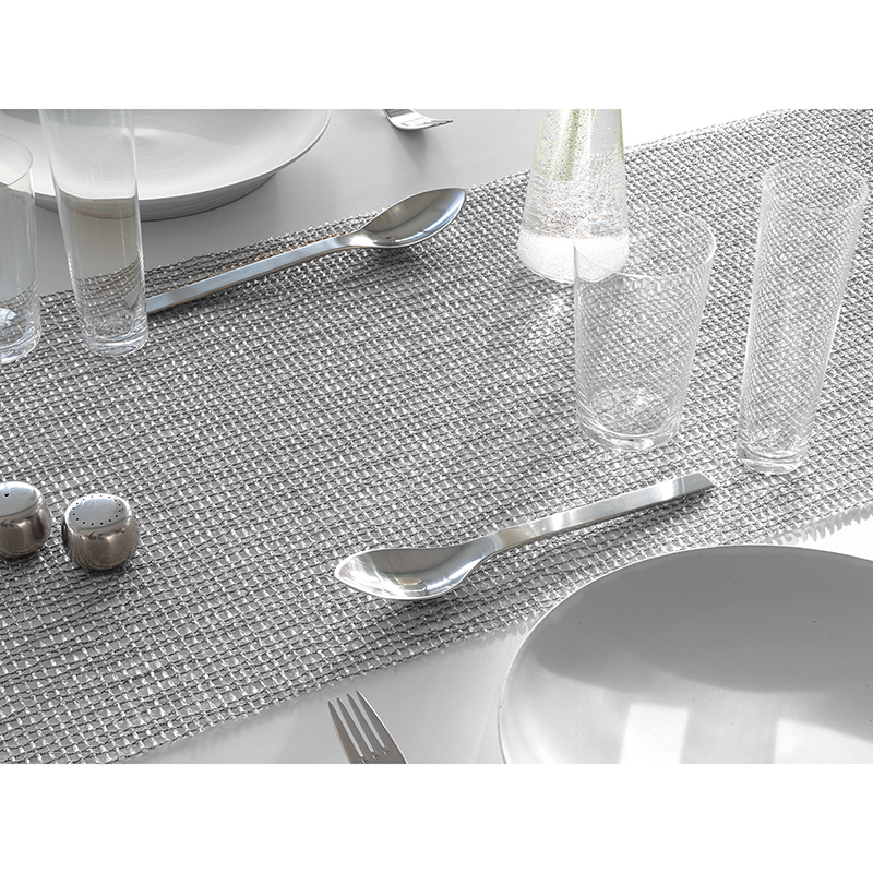 Merveilleux ... Lattice Table Runner In Silver ...