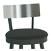 Lauren Modern Bar Stool Stainless Backrest- Seat