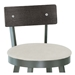 Lennon Modern Bar Stool Wood Backrest- Seat