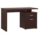 Madsen Modern Cappuccino Desk with File