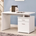 Madsen Contemporary White Desk with File