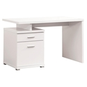 Madsen Modern White Desk with File