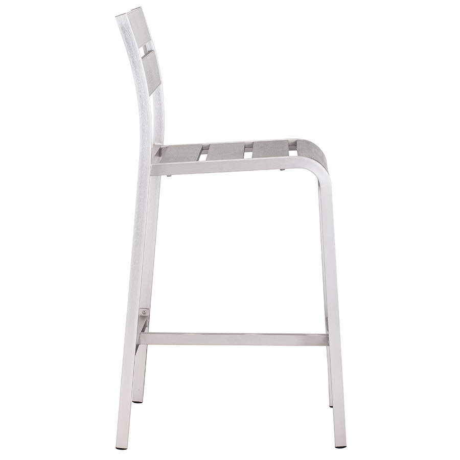 Martin Modern Outdoor Bar Stool - Side View