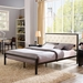 Myles Beige Contemporary Platform Bed