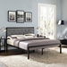Myles Gray Contemporary Platform Bed