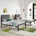 Myles Twin-Sized Gray Contemporary Bed
