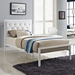 Myles White Contemporary Twin Bed