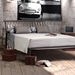 Nathan Modern Bed in Metallo Finish