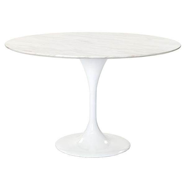 odyssey 47 inch modern round marble dining table