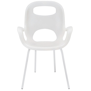 Oh Dining Chair in White w/ White Legs by Umbra
