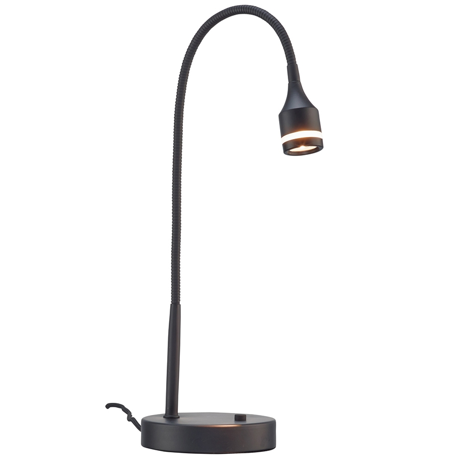 Patterson Black Modern LED Desk Lamp