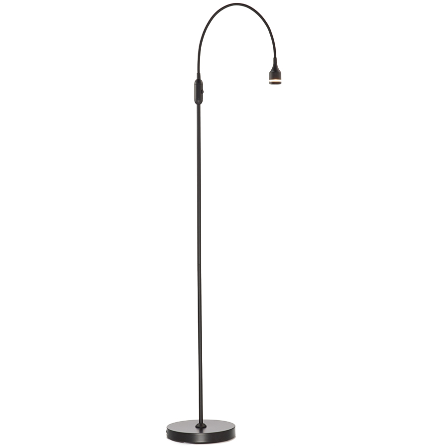 Patterson Black Modern LED Floor Lamp
