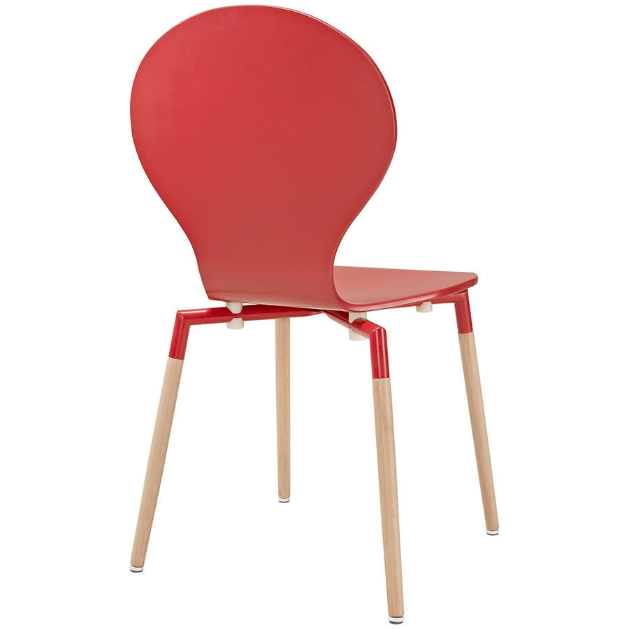 portugal modern red dining chair  eurway furniture -  portugal red modern dining chair  back view