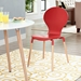 Portugal Contemporary Red Dining Chair