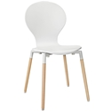 Portugal White Modern Dining Chair