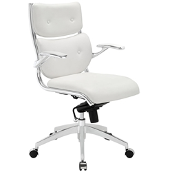 modern white office chair. Princeton Modern White Office Chair