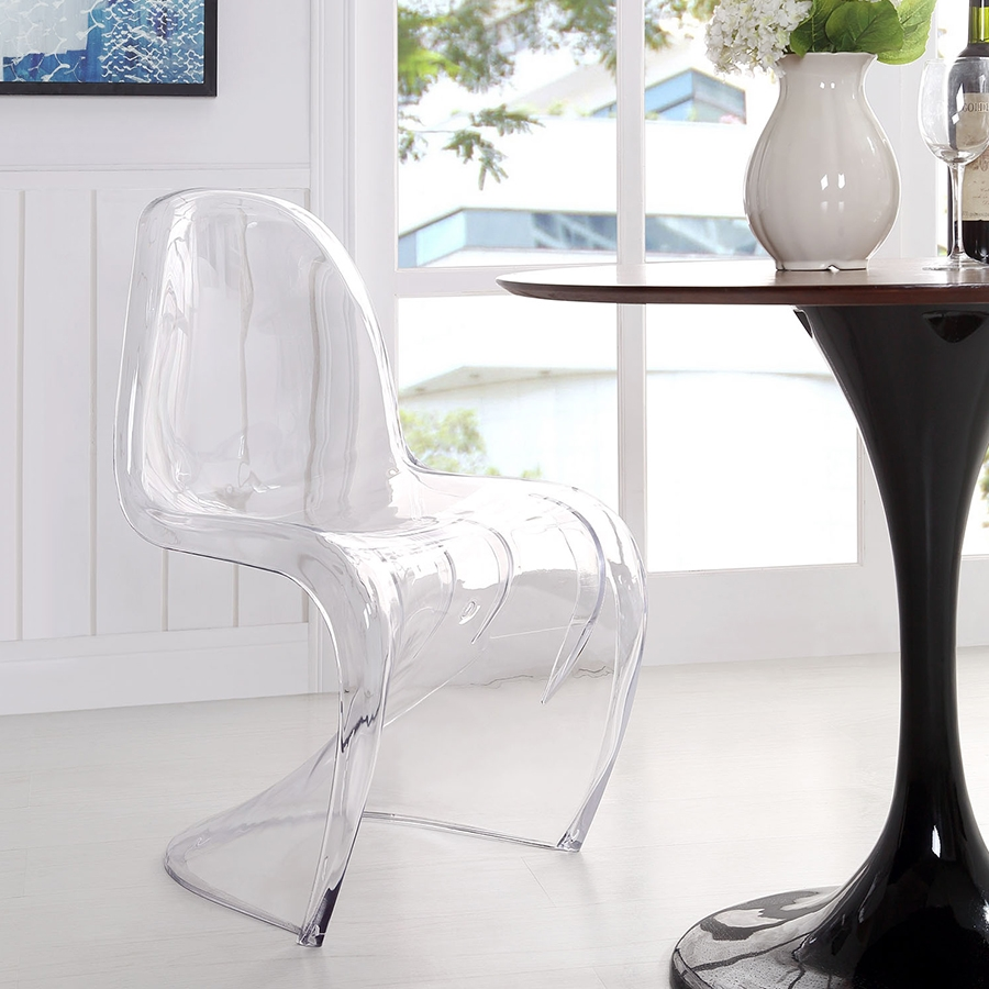 ... S Modern Acrylic Dining Chair