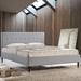 Seymour Light Gray Contemporary Platform Bed