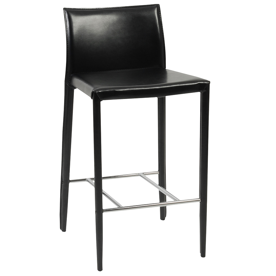Shelton Modern Black Counter Stool