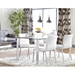 Smith Contemporary White Dining Chair