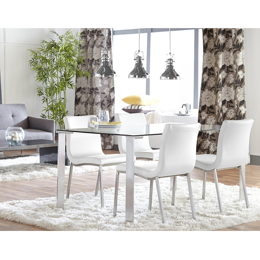 ... Smith Contemporary White Dining Chair