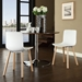 Space Contemporary White Dining Chair