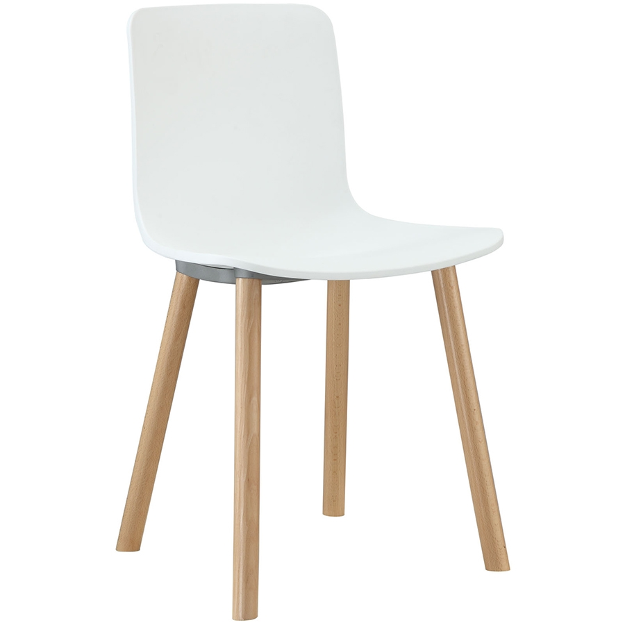 Space modern white dining chair eurway furniture for Contemporary white dining chairs