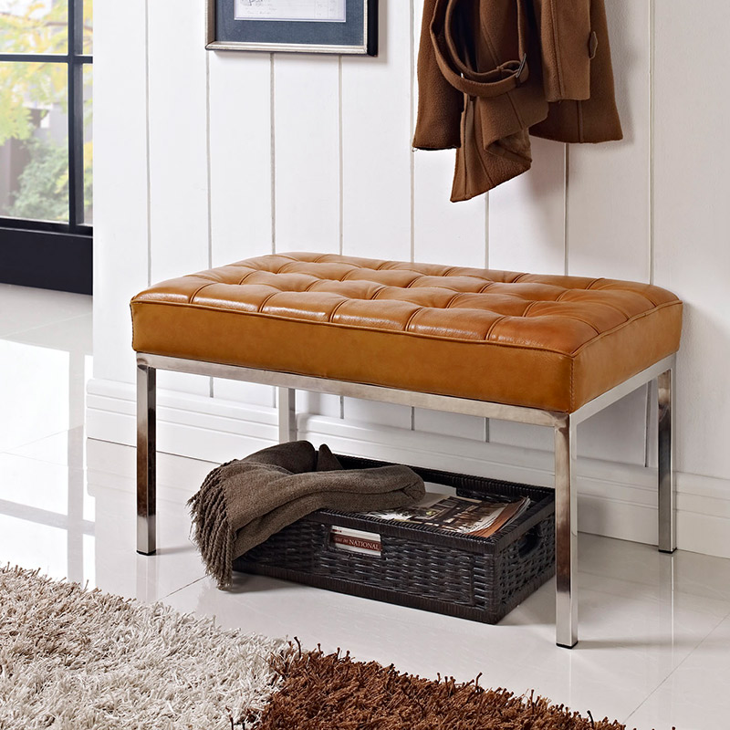 modern benches studio small leather bench eurway 13199 | studio small leather bench room bw 1000 bh 1000