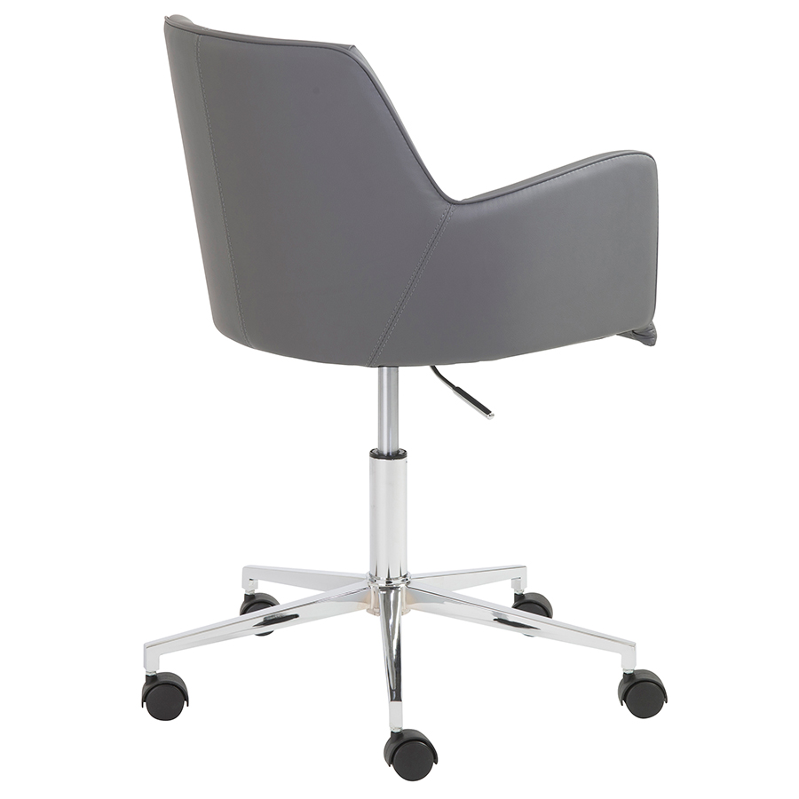 office chair back view. Summit Modern Gray Office Chair - Back View