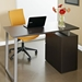 Talia Modern Desk with File in Espresso - Back View