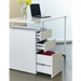 Talia Modern Desk with File in White - Drawer Detail