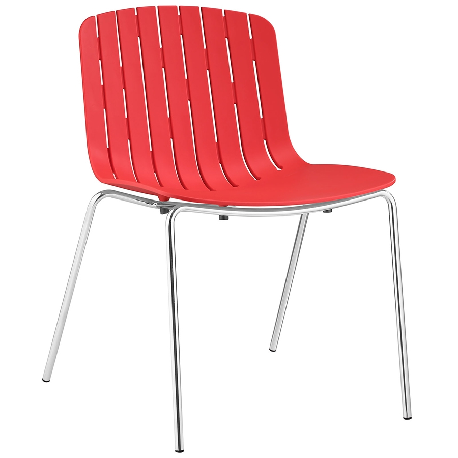Modern dining chairs taurus red dining chair eurway for Red modern dining chairs