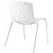 Taurus Modern White Dining Chair - Back View