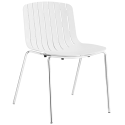 Taurus White Modern Dining Chair