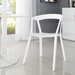 Tomball Contemporary White Dining Armchair