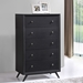 Toronto Contemporary Black High Chest