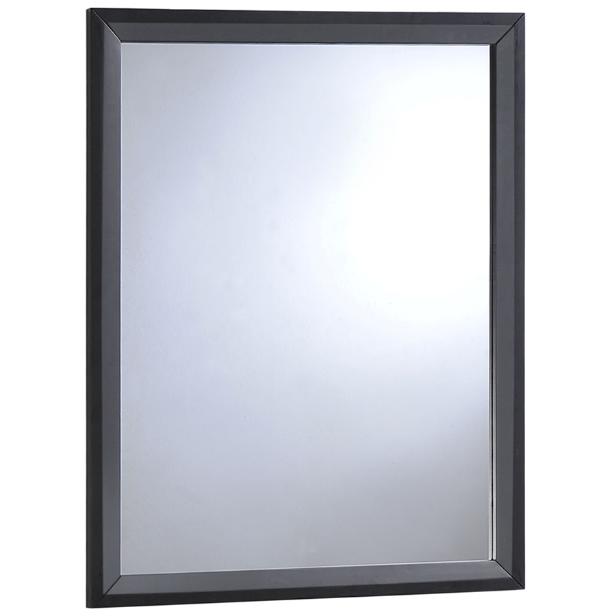 Toronto modern black wall mirror eurway furniture for Black wall mirror
