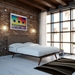 Toronto Brown Queen Contemporary Bed