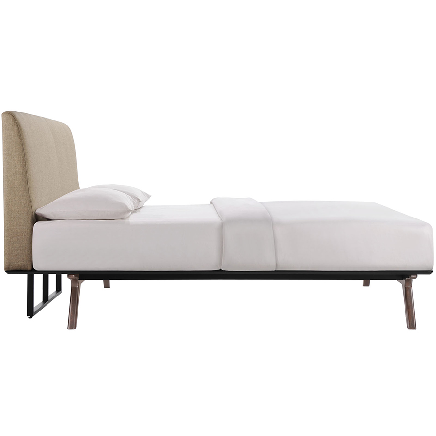 queen bed side view. Unique View Toronto Latte Modern Queen Bed  Side View To Eurway