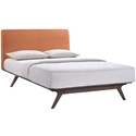 Toronto Orange Modern Queen Bed