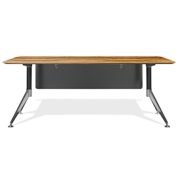 Trondheim 400 Collection 71 Inch Zebrano Modern Desk