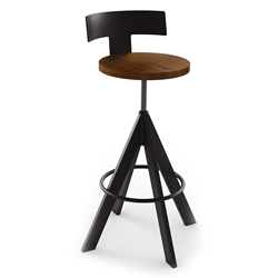Uplift Adjustable Stool - Cobirzo Metal by Amisco