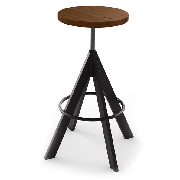 Uplift Backless Adjustable Stool - Cobirzo Metal by Amisco