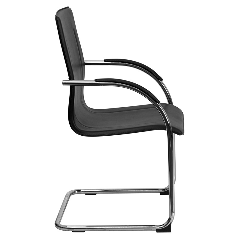 Vance Black Arm Chair - Side View