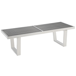 vector 48 inch modern stainless steel bench