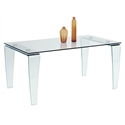 Vela Modern Glass Dining Table