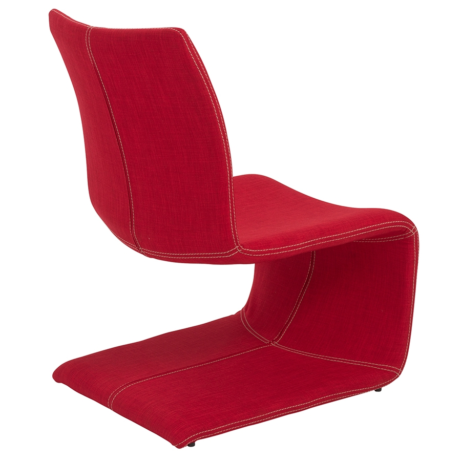 Vicky Contemporary Red Lounge Chair - Back View