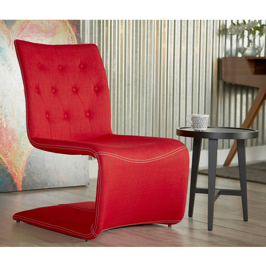 Red modern chairs -  Vicky Modern Red Lounge Chair