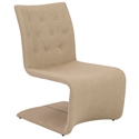 Ville Contemporary Tan Lounge Chair