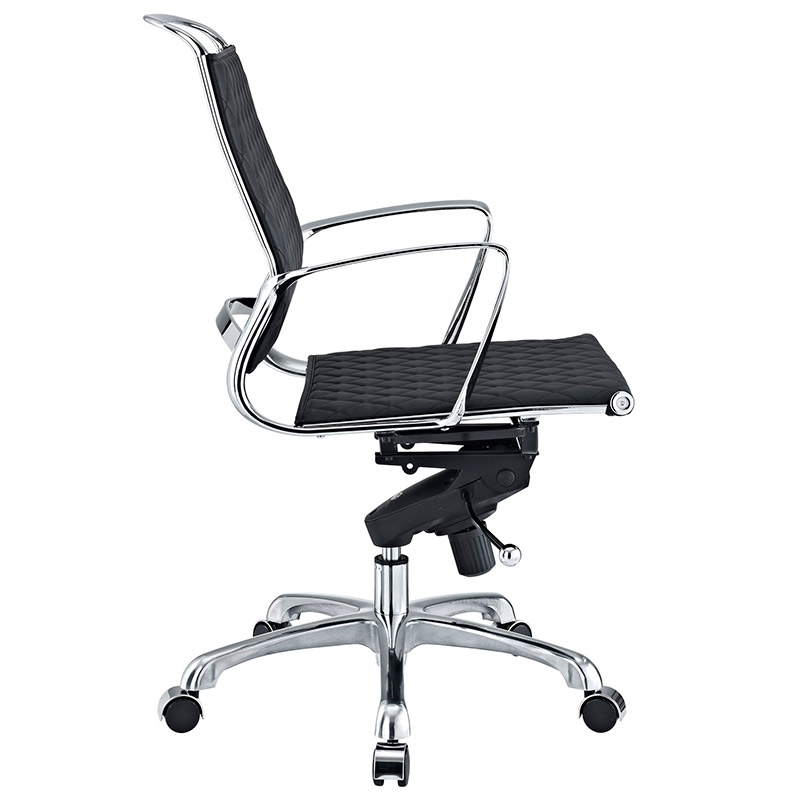 Vincent Modern Low Back Office Chair - Side View